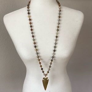 Beaded boho arrowhead necklace wildthing co